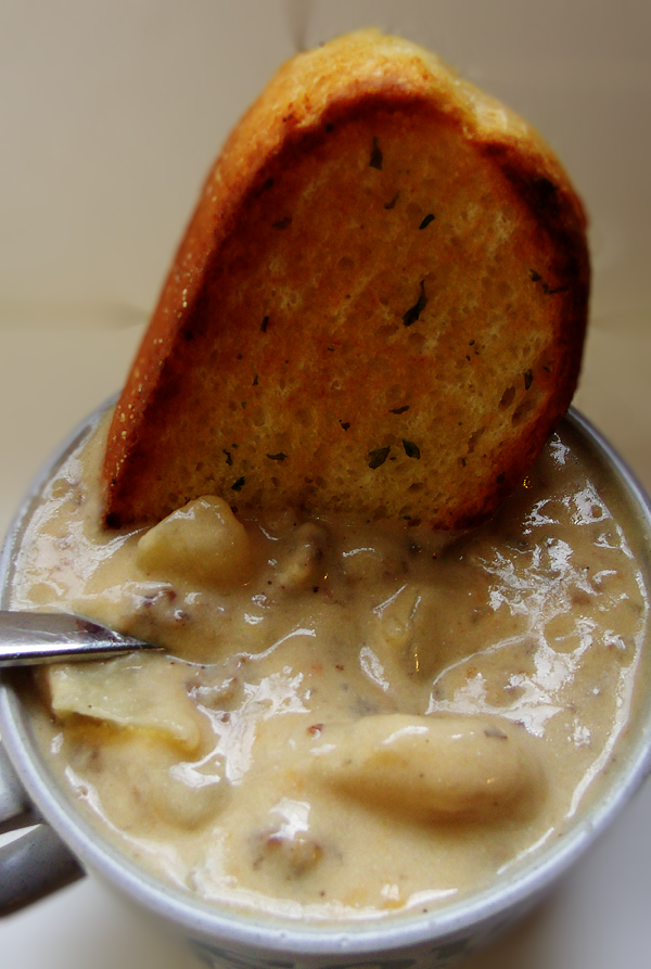 Cheesy Dutch Sausage and Potato Chowder