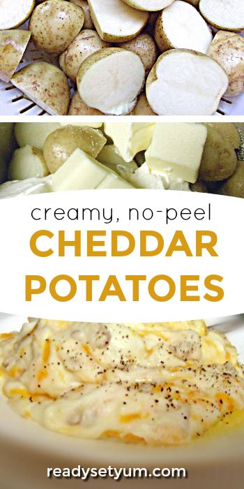Easy peasy no-peel potatoes! You'll have these whipped up no time. Creamy and delicious!