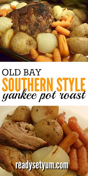 Old Bay southern style yankee pot roast. Tender and easy to make!