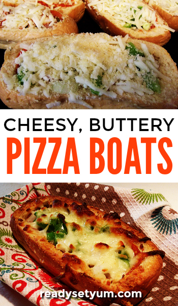 Buttery, cheesy pizza boats that are so simple to make! The whole family will love these. Perfect for nights when you don't feel like doing anything too involved.